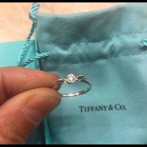 Tiffany swan diamond ring